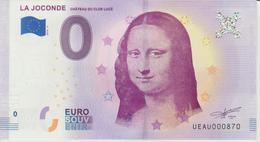 Billet Touristique 0 Euro Souvenir France 37 La Joconde Clos Lucé 2018-4 N°UEAU000870 - EURO