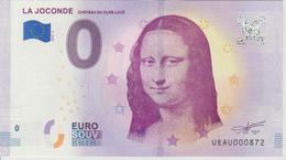Billet Touristique 0 Euro Souvenir France 37 La Joconde Clos Lucé 2018-4 N°UEAU000872 - EURO