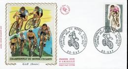 Frankreich France 1972 - Radweltmeisterschaften - MiNr 1804 FDC - Radsport