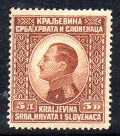 89 490 - YUGOSLAVIA 1924 , Alessandro Unificato N. 89  *  Linguellata. - 1919-1929 Royaume Des Serbes, Croates & Slovènes