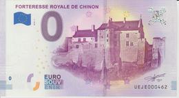 Billet Touristique 0 Euro Souvenir France 37 Forteresse Royale De Chinon  2018-1 N°UEJE000462 - Essais Privés / Non-officiels