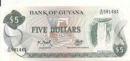 GUYANE 5 DOLLARS ND1992 UNC P 22 F - Guyana