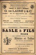 PUB 1891 - Produit Organique De Laire Rue St Charles/petites écuries Paris; Rhums Tafia Rouen; Rhum St Georges; NEGRITA - Publicités