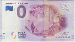 Billet Touristique 0 Euro Souvenir France 46 Grottes De Lacave 2018-2 N°UECM000237 - Essais Privés / Non-officiels