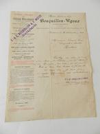 Facture  - Armentières - Bouquillon-Wgeux - Scierie Mécanique Parquets - Rue Sadi-Carnot - 1908 - Textile & Vestimentaire