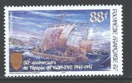 """Polynésie YT 548 """" Epopée Du Kon-Tiki """" 1997 Neuf** - French Polynesia"""