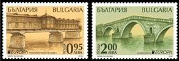"BULGARIA/ BULGARIE/ BULGARIEN -EUROPA 2018 -""PUENTES.- BRIDGES - BRÜCKEN - PONTS"" -  SERIE De 2 V. - 2018"