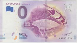 Billet Touristique 0 Euro Souvenir France 62 La Coupole Planétarium 3D 2018-2 N°UEBZ001354 - EURO