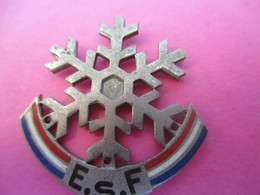 Médaille De Sport à épingle/ Flocon  / Arthus Bertrand/ Bronze Nickelé émaillé/ Vers 1950             MED272 - Winter Sports