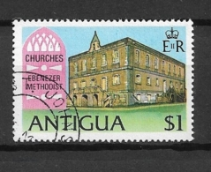 ANTIGUA  1975 Churches   USED   FROM S/S - Antigua & Barbuda (...-1981)
