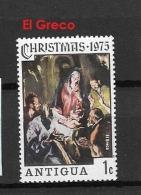 ANTIGUA    1975 Natale 1975 CHRISTMAS USED - EL GREGO - Antigua & Barbuda (...-1981)