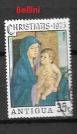 ANTIGUA    1975 Natale 1975 CHRISTMAS USED - PAINTINGS    -  BELLINI - Antigua & Barbuda (...-1981)