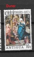 ANTIGUA    1975 Natale 1975 CHRISTMAS USED - PAINTINGS    -DURER - Antigua & Barbuda (...-1981)