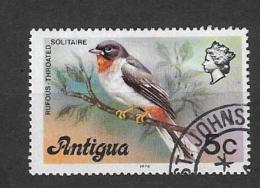 ANTIGUA    1976 Local Motives BIRDSRufous-throated Solitaire  USED - Antigua & Barbuda (...-1981)