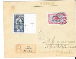 LOT 1809088 - CAMEROUN N° 71.74 SUR LETTRE RECOMMANDEE DE DUALA DU 19 DECEMBRE 1916 - AU DOS CACHET PAQUEBOT LIGNE N° 1 - Cameroun (1915-1959)