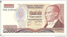 TURQUIE 20000 LIRA 1995 UNC P 202 - Turkey