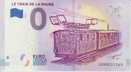 Billet Touristique 0 Euro Souvenir France 64 Train De La Rhune 2018-2 N°UEBN001269 - Essais Privés / Non-officiels