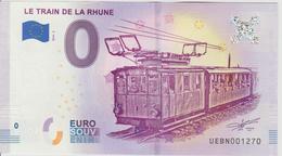 Billet Touristique 0 Euro Souvenir France 64 Train De La Rhune 2018-2 N°UEBN001270 - EURO
