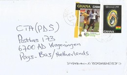 Ghana 2010 Bawku Overprint C1 On C60 Michel 1216 Football Cover - Ghana (1957-...)
