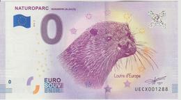 Billet Touristique 0 Euro Souvenir France 68 Naturoparc Hunawihr 2018-2 N°UECX001288 - Privéproeven