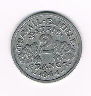 =&  FRANKRIJK 2 FRANCS 1944 B - France