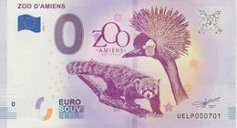 Billet Touristique 0 Euro Souvenir France 80 Paris Zoo D'Amiens 2018-1 N°UEPL000701 - Essais Privés / Non-officiels