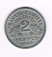 =&  FRANKRIJK 2 FRANCS 1944 C - France