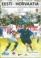 Sport Programme PR000017 - Football (Soccer / Calcio) Estonia Vs Croatia: 2007-06-02 - Programme