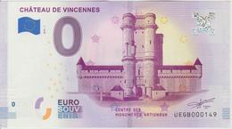 Billet Touristique 0 Euro Souvenir France 94 Chateau De Vincennes 2018-1 N°UEGB000149 - EURO