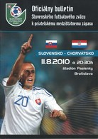 Sport Programme PR000022 - Football (Soccer / Calcio) Slovakia Vs Croatia: 2010-08-11 - Programs
