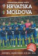 Sport Programme PR000032 - Football (Soccer / Calcio) Croatia Vs Moldova: 2016-05-27 - Programme