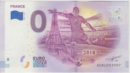 Billet Touristique 0 Euro Souvenir France Coupe Du Monde 2018-1FR N°XERU003997 - Essais Privés / Non-officiels