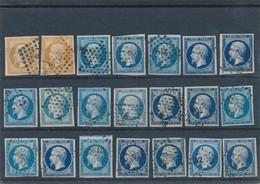 20 C Bleu X 19 + 10 C Bistre X 2 TB. - 1853-1860 Napoléon III