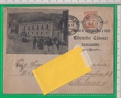 AMBULANTE. Tagliacozzo. Aquila. Biscotti Galletti. Edoardo Ciamei. Albergo Ristorante Dei Mille. - 1900-44 Vittorio Emanuele III