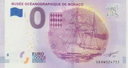Billet Touristique 0 Euro Souvenir Monaco Musée Océanographique 2018-2 N°UEAW024751 - EURO
