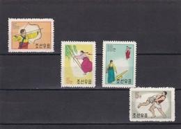 Corea Del Norte Nº 262 Al 265 - Corea Del Norte