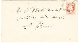1879 Österreichischer Ganzsachenbrief 5kr Aus Neu Bidschow Nach Prag - Ganzsachen