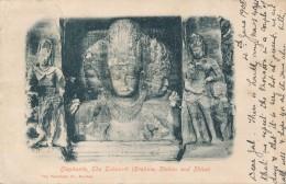 XIND.44.  Elephanta - The Trimurti - 1908 - India