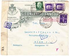 1941 Zensurierter Geschäftsbrief Einer Weinfirma Aus Asti Nach Wien; Gebrauchsspuren - 1900-44 Victor Emmanuel III.