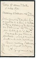 49. GUYNEMER (AUGUSTE GRAND-PERE DE L'AVIATEUR ?). LAS 1890 ADRESSEE AUX NEGOCIANTS DE BORDEAUX CLOSSMANN POUR ACHAT VIN - Autógrafos