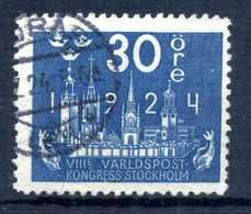 1924 SVEZIA N.168 USATO - Svezia