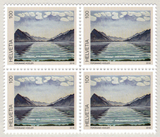 Switzerland 2018Ferdinand Hodler Painting Mountains Berge ** Bloc Of 4 Stamps - Switzerland
