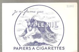 Buvard Je Ne Fume Que LE NIL PAPIERS A CIGARETTES - Tabac & Cigarettes