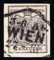 1850 2kr, Vollrandig Zentrumsstempel Wien - 1850-1918 Imperium