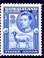 British Somaliland 1942 3 Annas Definitive, Lightly Hinged Mint, SG 108 (BA) - Somaliland (Protectorate ...-1959)