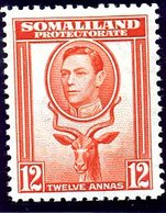British Somaliland 1942 12 Annas Definitive, Lightly Hinged Mint, SG 112 (BA) - Somaliland (Protectorate ...-1959)