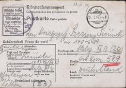 Stalag II B Censure Gepruft 39 Stalag 308 Série 300 Disciplinaires Camp Représailles Non Répertorié Deloste P115 1945 - Briefe U. Dokumente