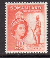 British Somaliland 1953-8 10c Scouts Sentry Value, MNH, SG 138 (BA) - Somaliland (Protectorate ...-1959)