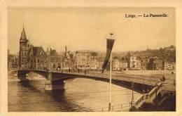 Liége - La Passerelle Et La Poste.   -  4 CPA Pour Le Prix De 1. - Luik