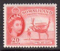 British Somaliland 1953-8 20c Camel & Gurgi Value, MNH, SG 140 (BA) - Somaliland (Protectorate ...-1959)